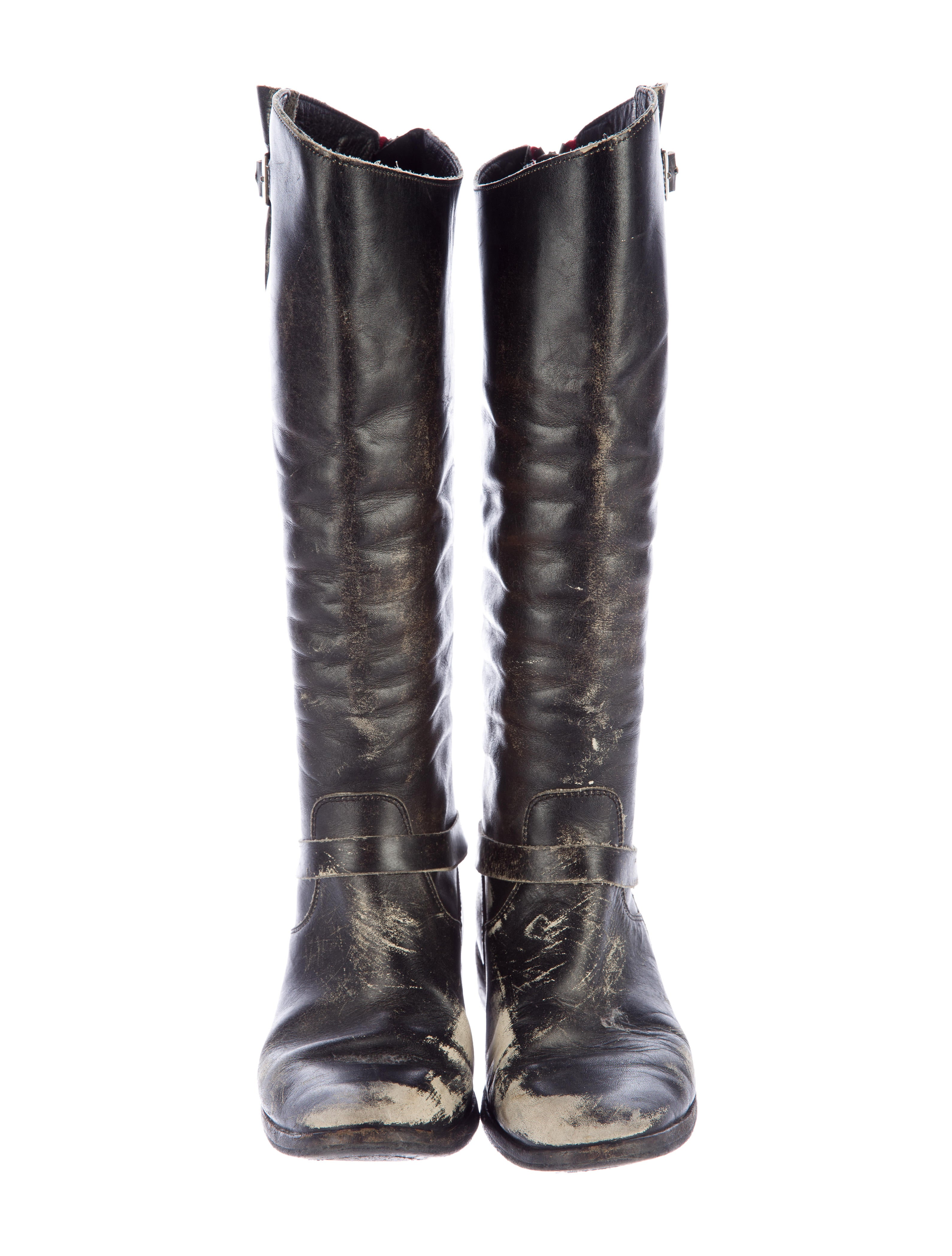 golden goose distressed leather boots shoes wg523367
