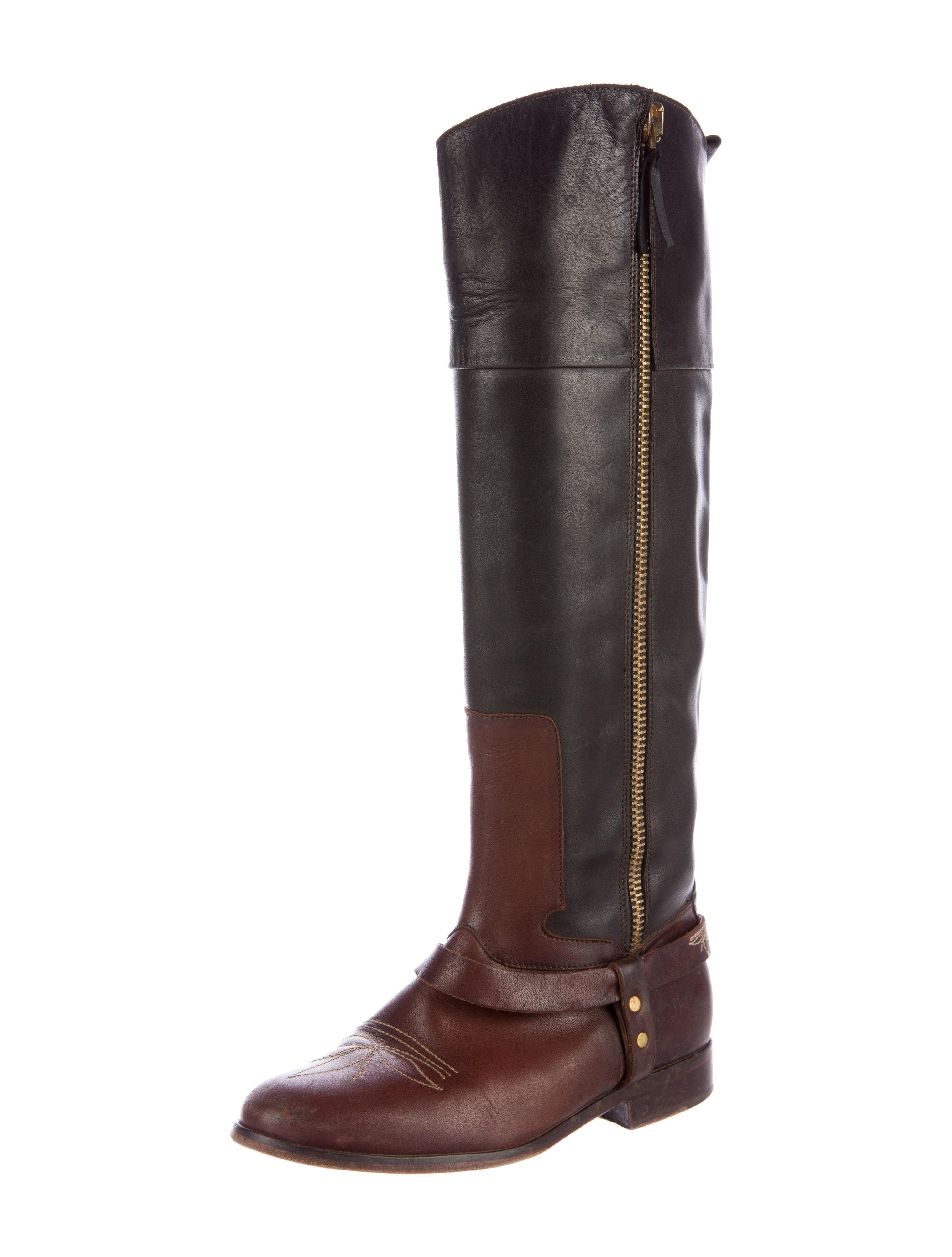 golden goose two tone leather boots shoes wg523762