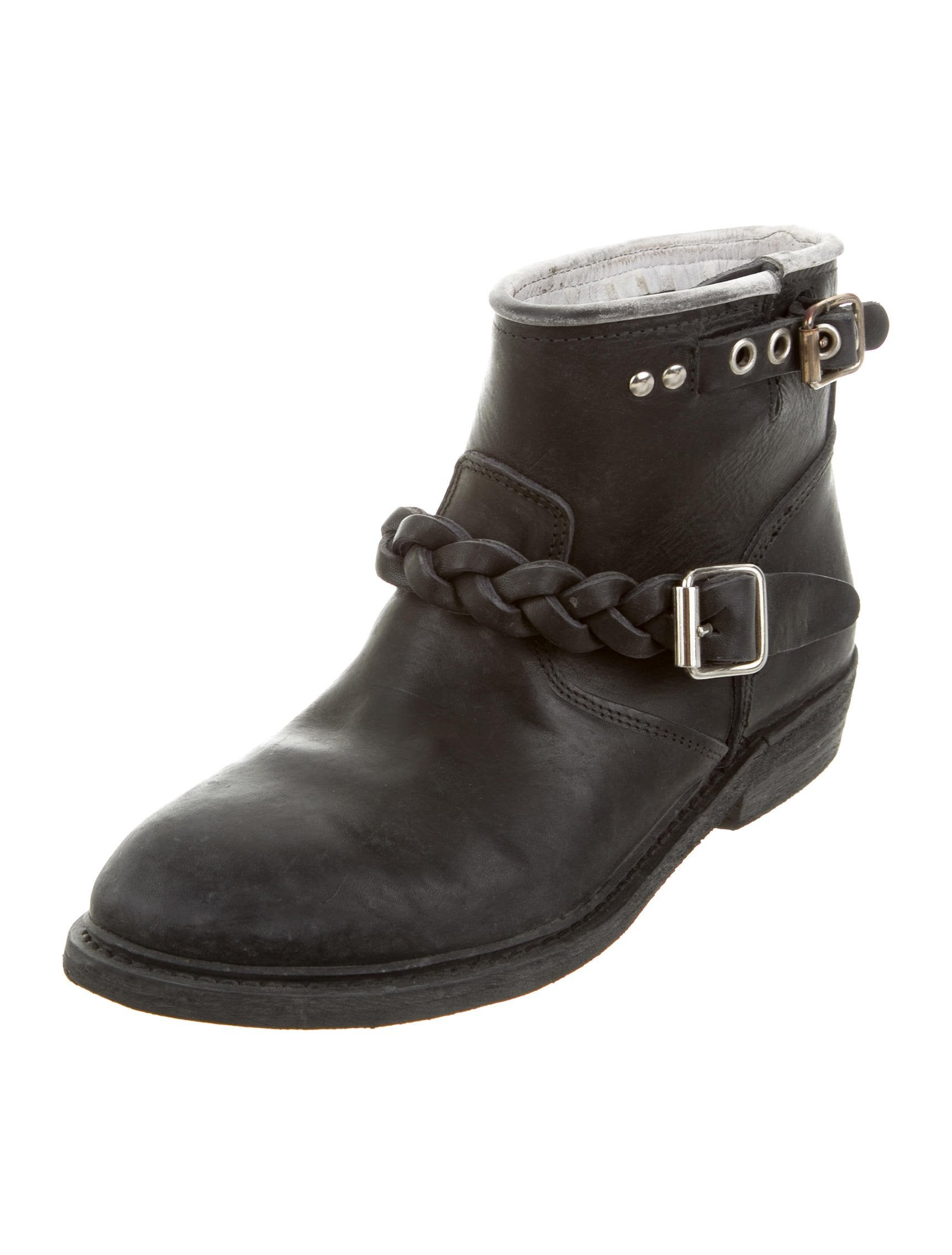 golden goose distressed biker boots w tags shoes wg524182 the realreal. Black Bedroom Furniture Sets. Home Design Ideas