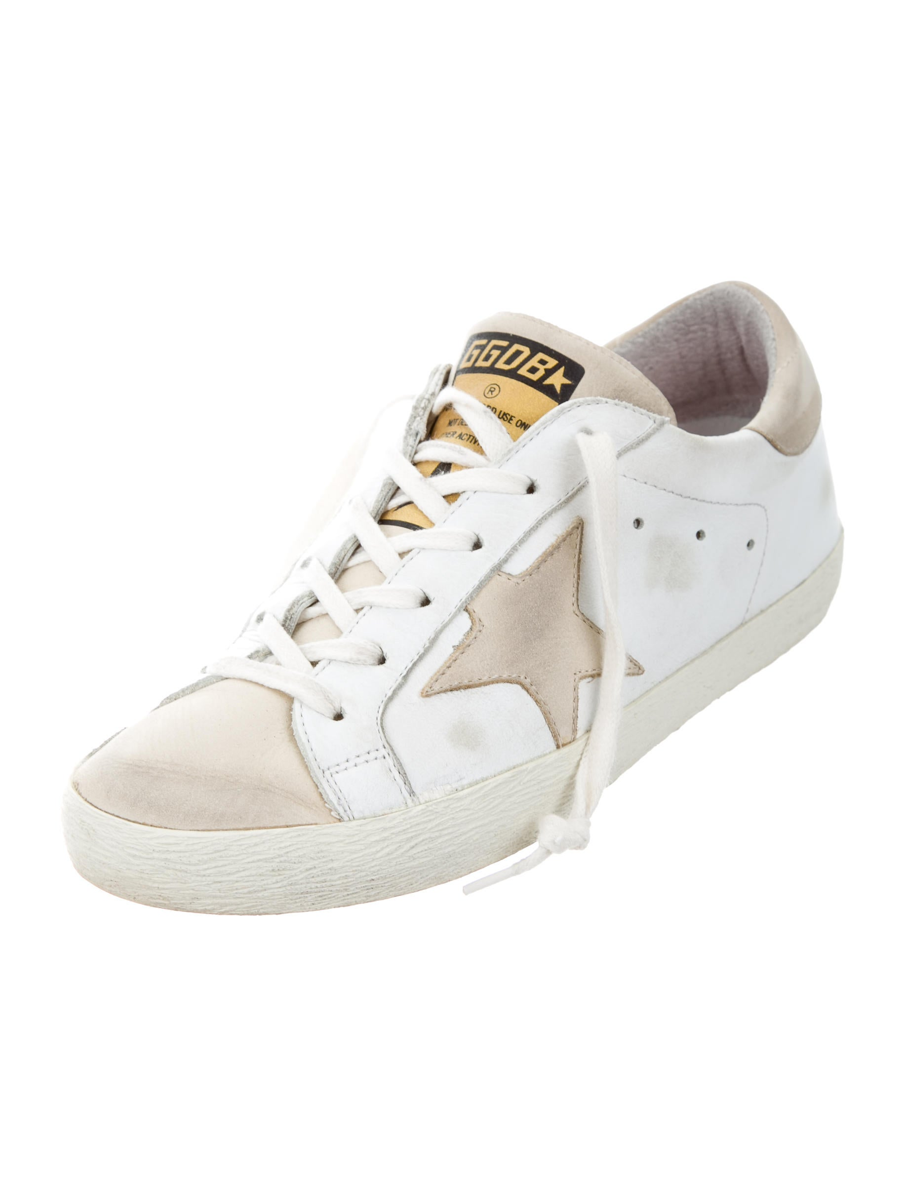 Golden Goose Superstar Distressed Sneakers - Shoes - WG524197 | The RealReal