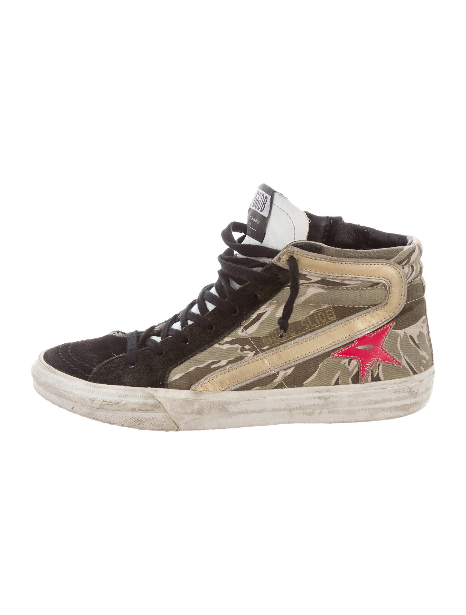 golden goose superstar high top sneakers shoes wg524316 the realreal. Black Bedroom Furniture Sets. Home Design Ideas