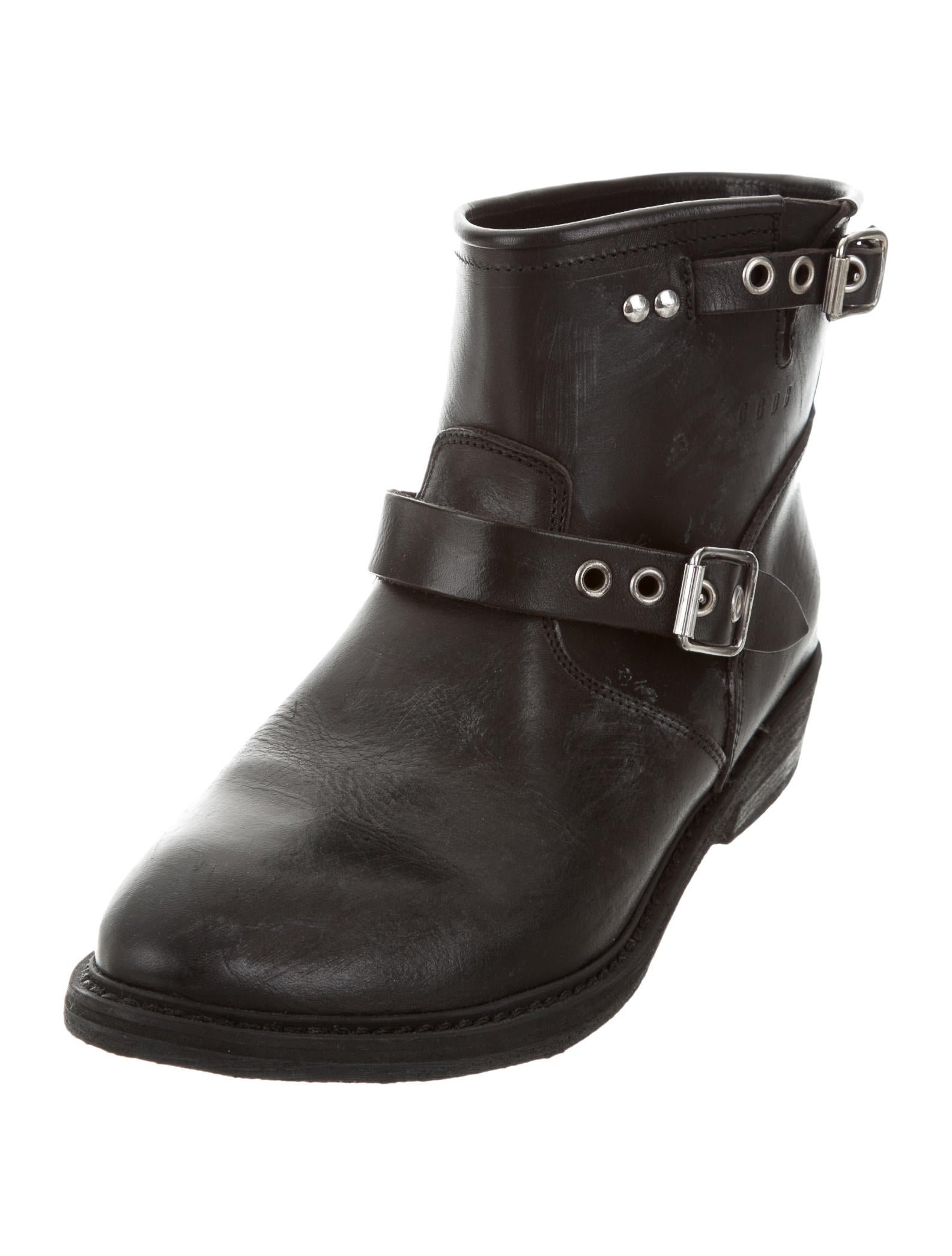golden goose distressed biker boots w tags shoes wg524410 the realreal. Black Bedroom Furniture Sets. Home Design Ideas