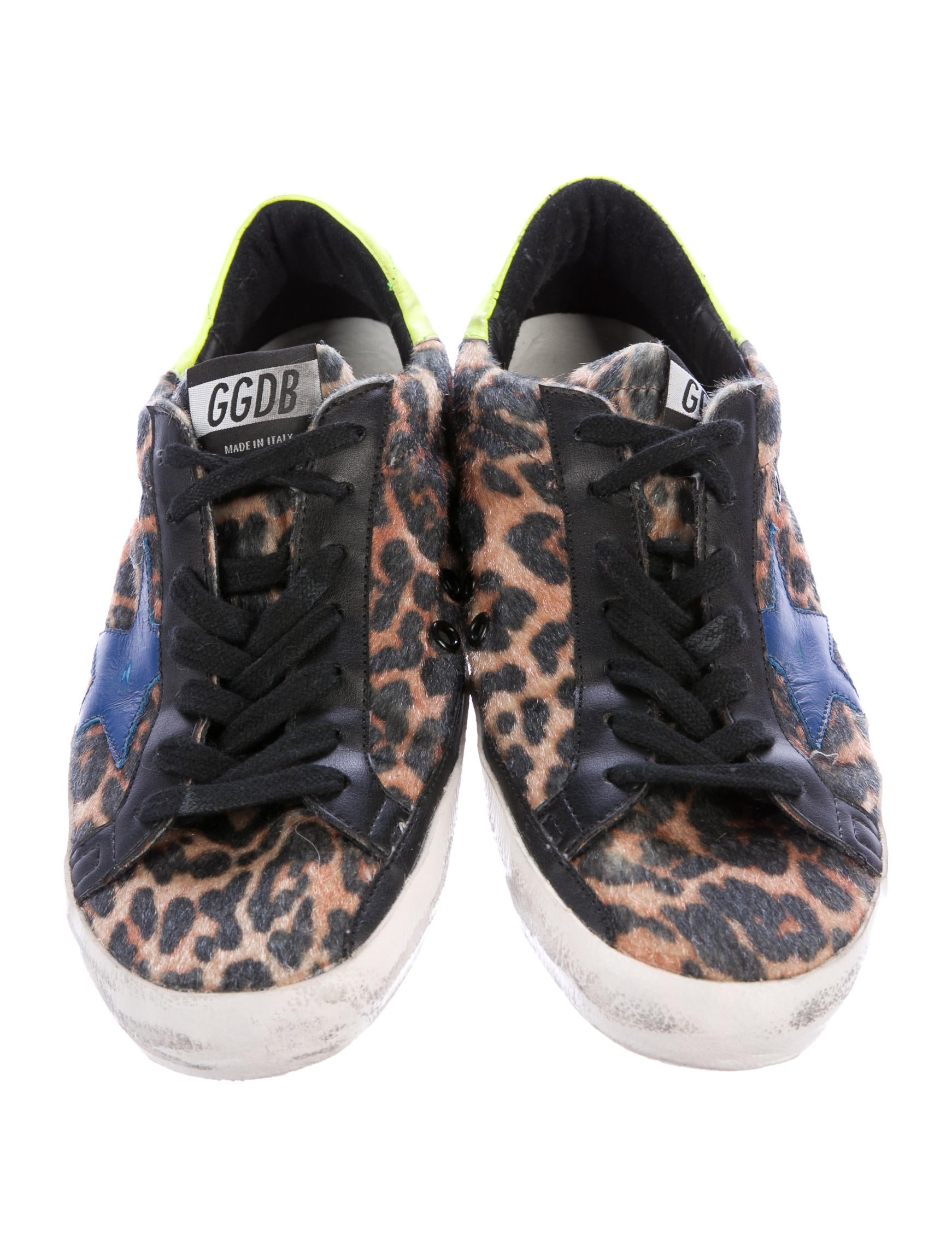 golden goose superstar leopard print sneakers shoes wg525117 the realreal. Black Bedroom Furniture Sets. Home Design Ideas
