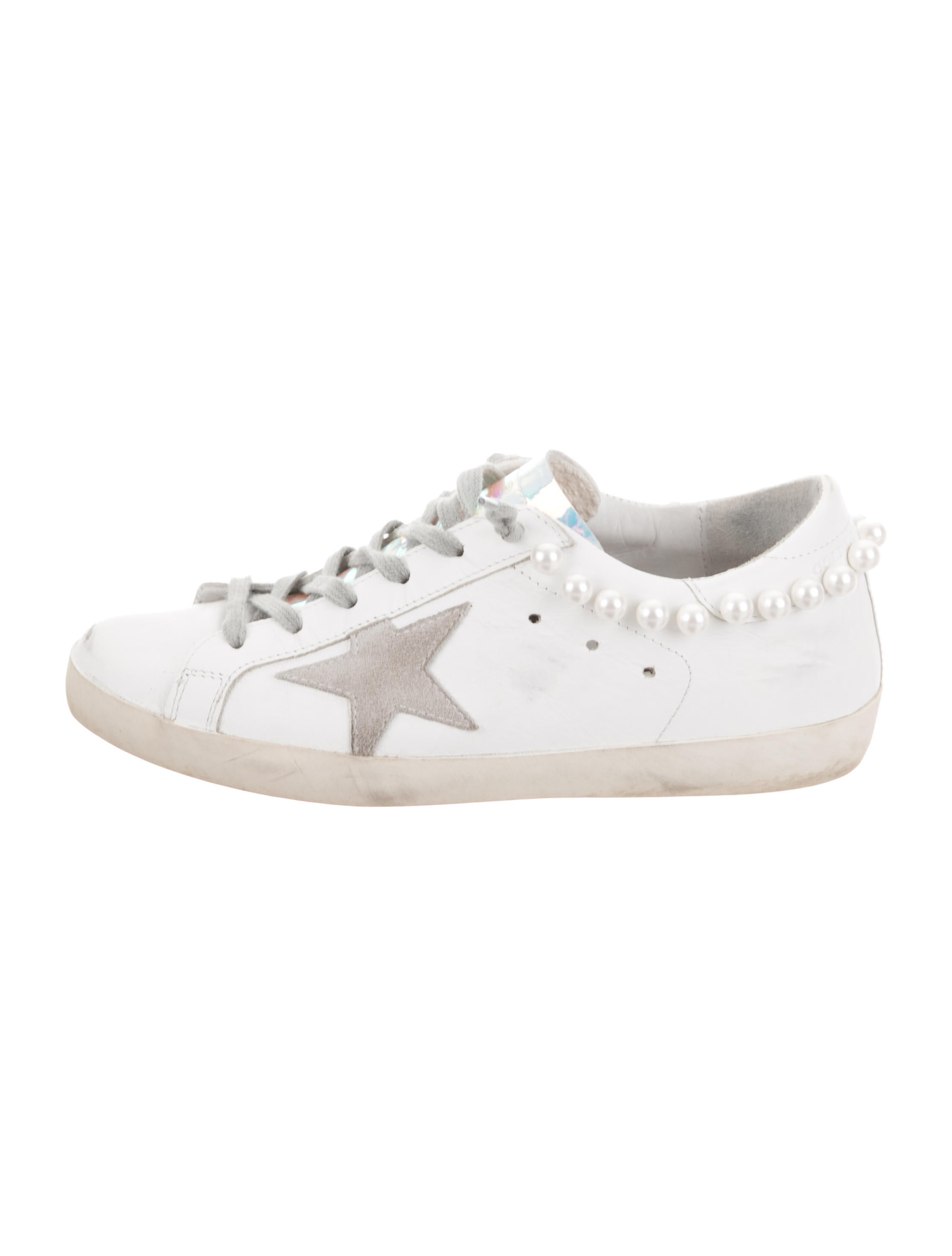 Golden Goose Faux-Pearl Accented Low