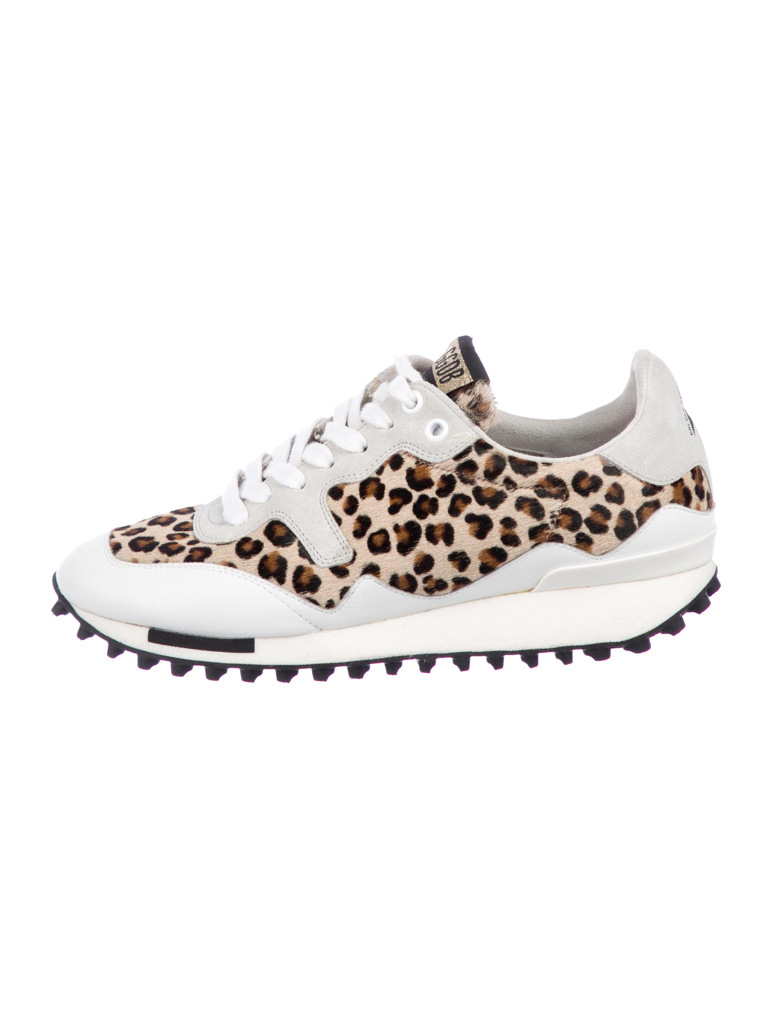 Golden Goose Starland Leopard Sneakers