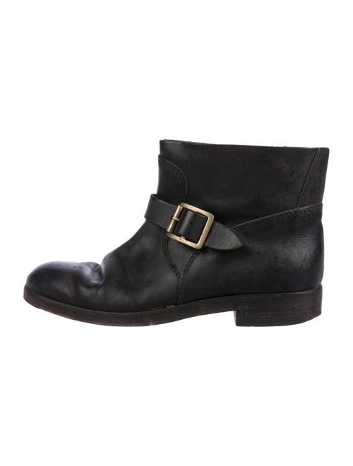 Golden Goose Leather Ankle Boots Brown