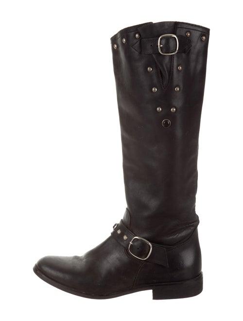 Golden Goose Studded Leather Boots Black