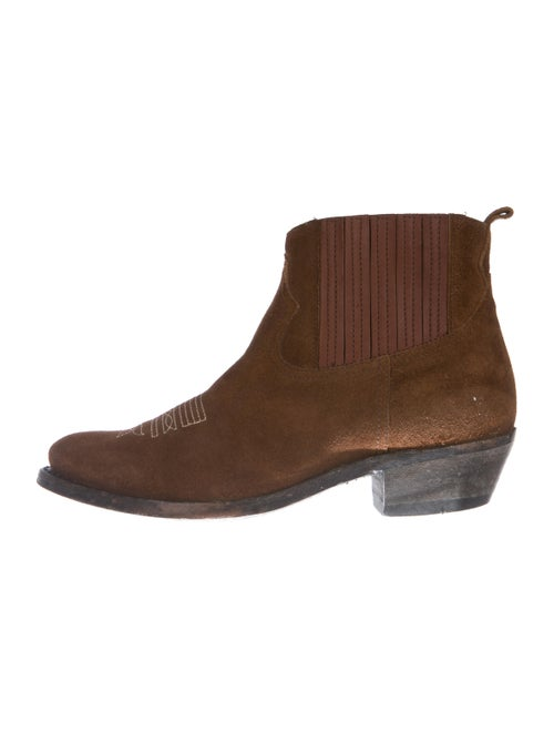 Golden Goose Suede Ankle Boots Brown