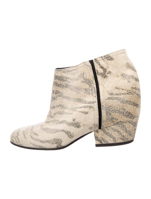 Golden Goose Leather Animal Print Boots