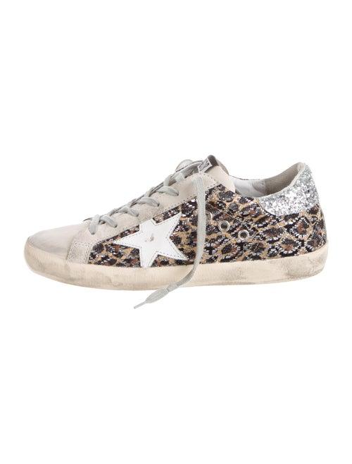 Golden Goose Superstar Glitter Sneakers leopard