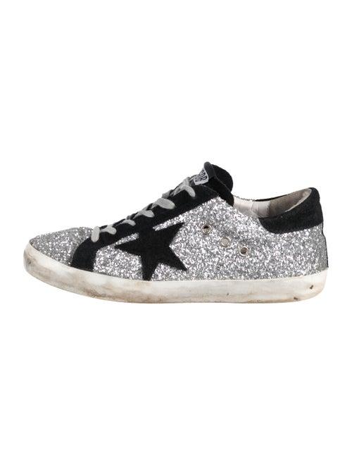 Golden Goose Superstar Glitter Sneakers Silver