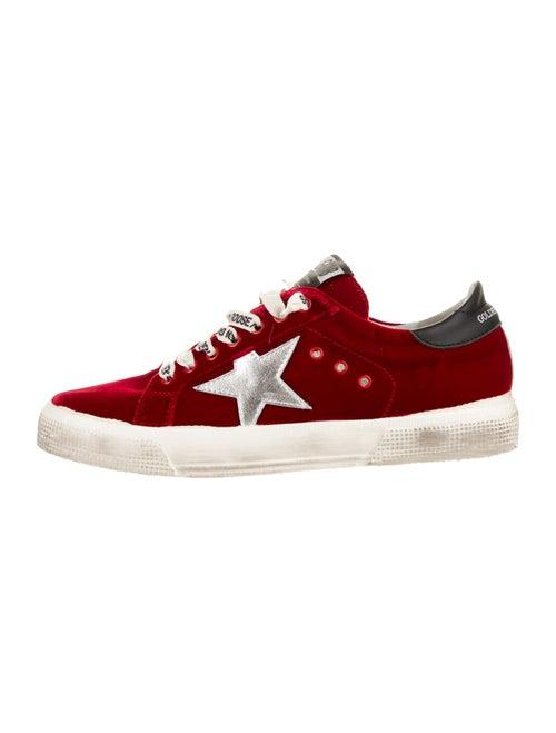 Golden Goose May Velvet Sneakers Red