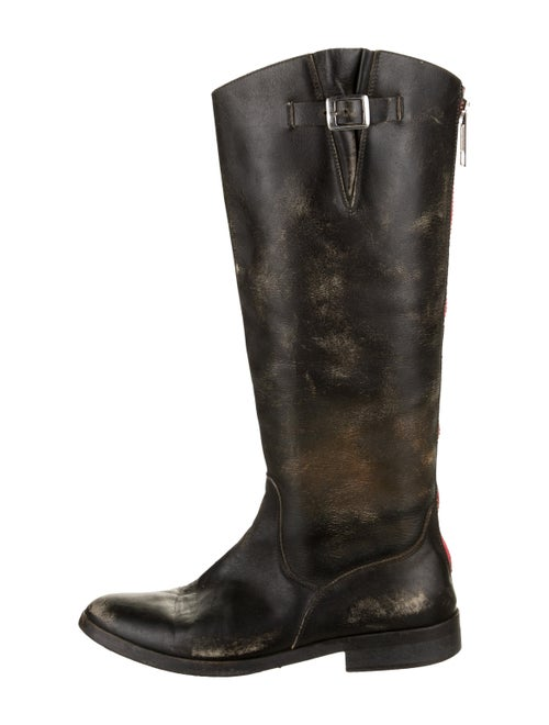 Golden Goose Leather Distressed Boots Brown