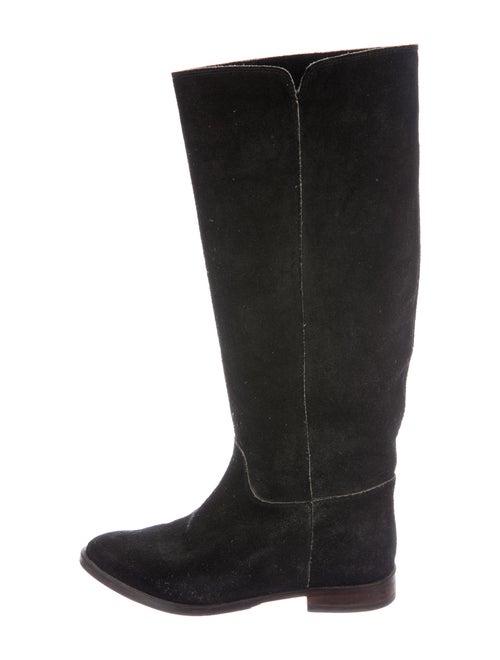 Golden Goose Suede Riding Boots Black