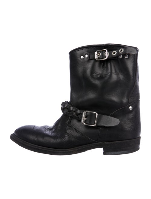 Golden Goose Leather Ankle Boots Black