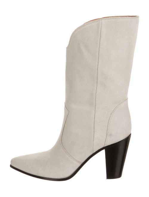 Golden Goose Suede Western Boots Grey