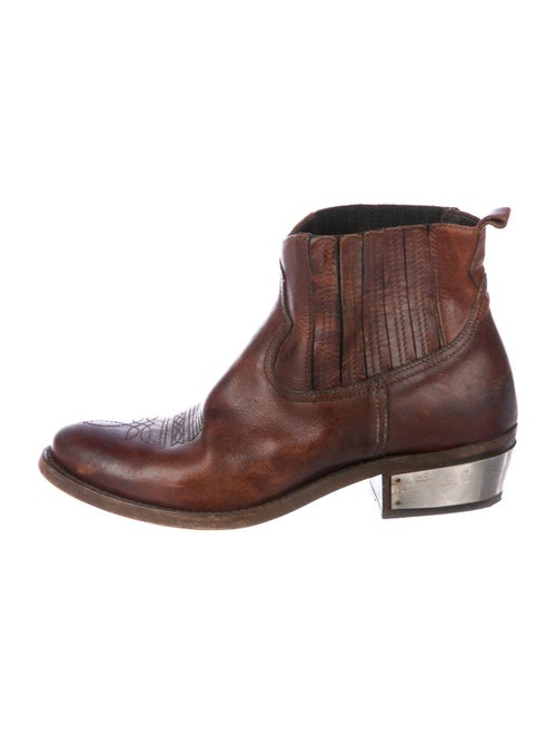 Golden Goose Leather Boots Brown