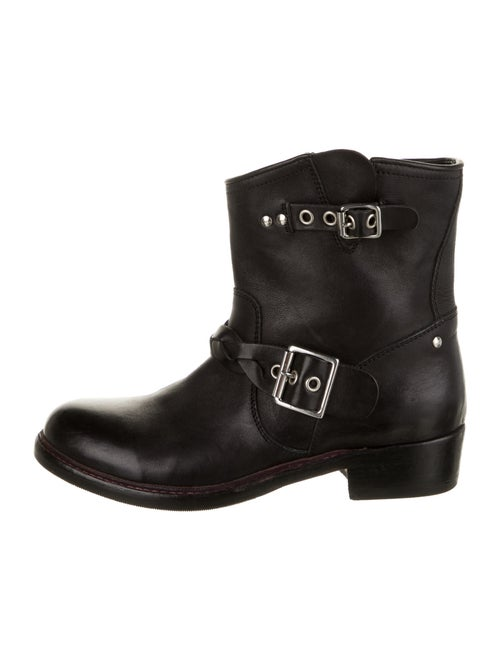 Golden Goose Boots Leather Moto Boots Black