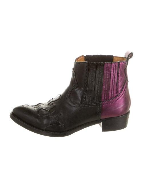 Golden Goose Amanda Leather Western Boots Black