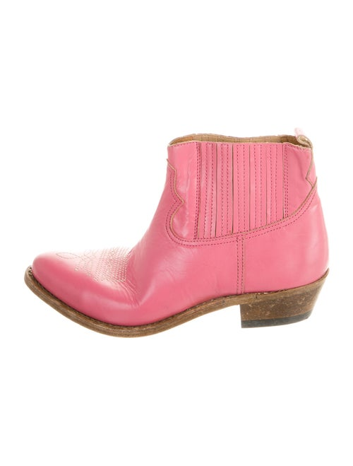 Golden Goose Leather Western Boots Pink