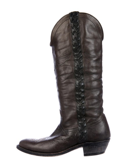 Golden Goose Leather Beaded Accents Western Boots