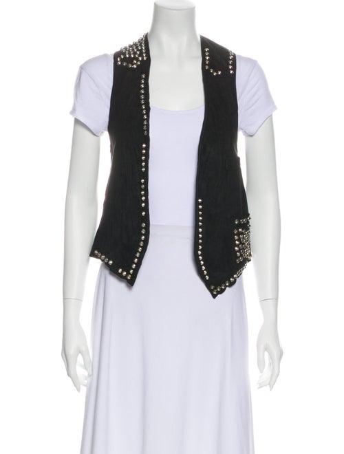 Golden Goose Leather Vest Black