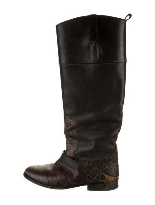 Golden Goose Leather Knee-High Boots Black