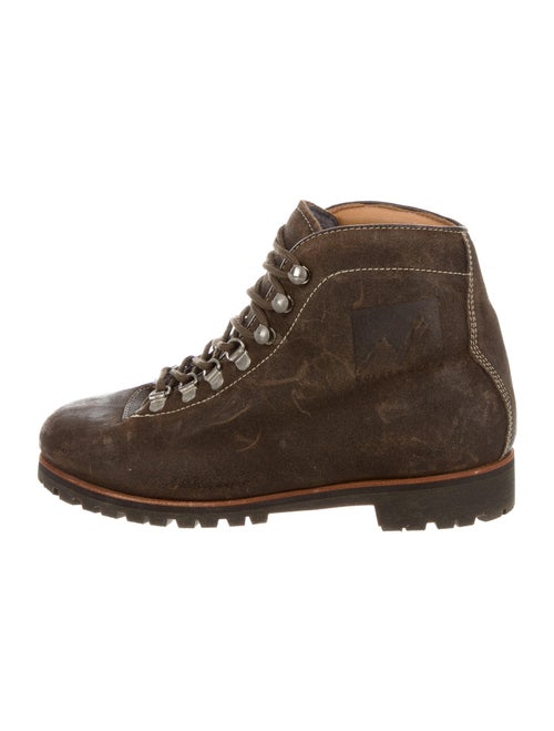 Golden Goose Leather Combat Boots Brown