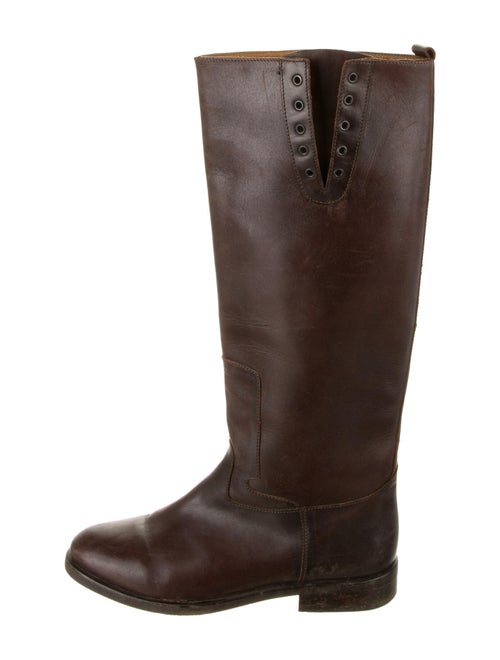 Golden Goose Leather Riding Boots Brown