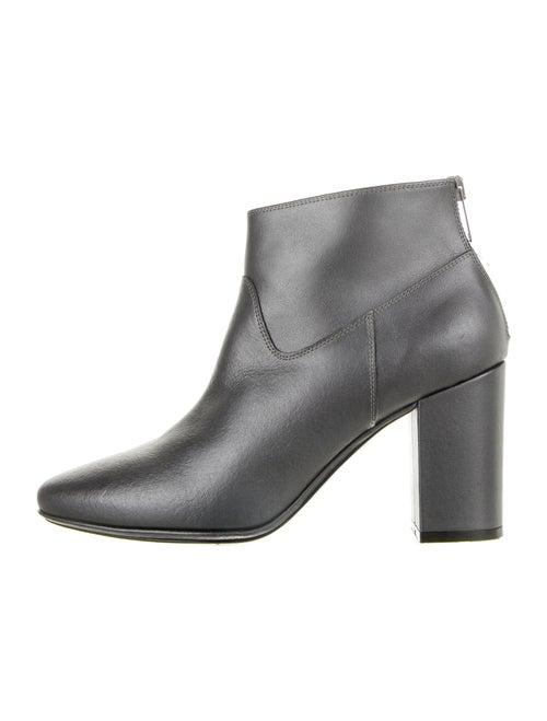 Golden Goose Martin Leather Boots Metallic