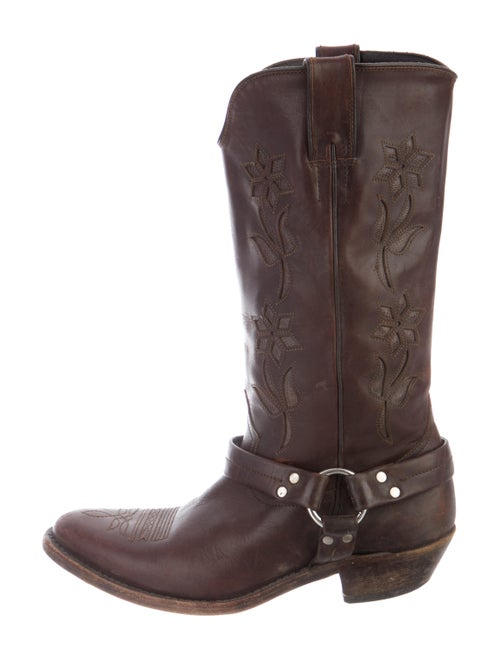 Golden Goose Leather Moto Boots Brown