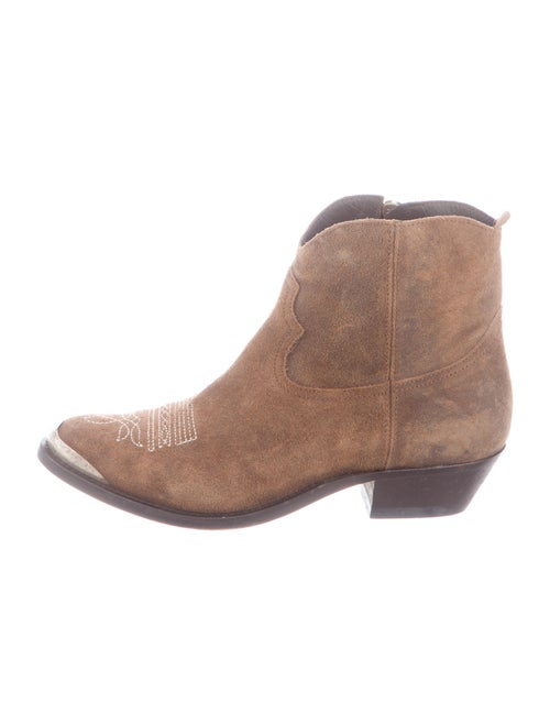 Golden Goose Western Suede Western Boots Brown