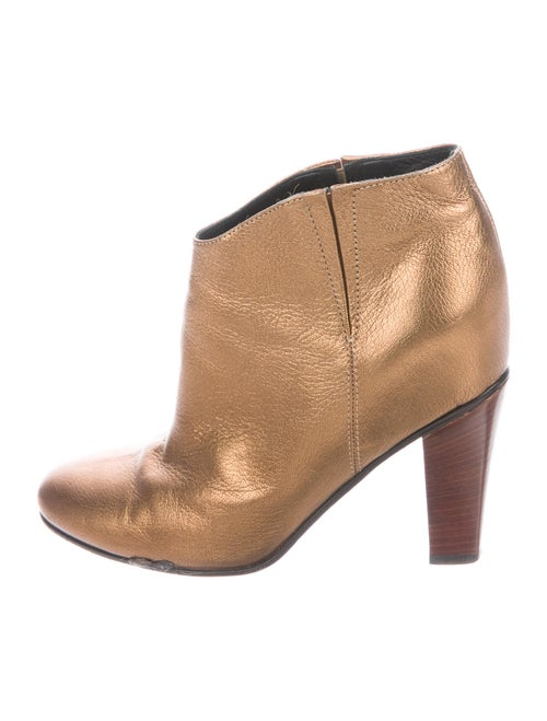 Golden Goose Leather Boots Gold