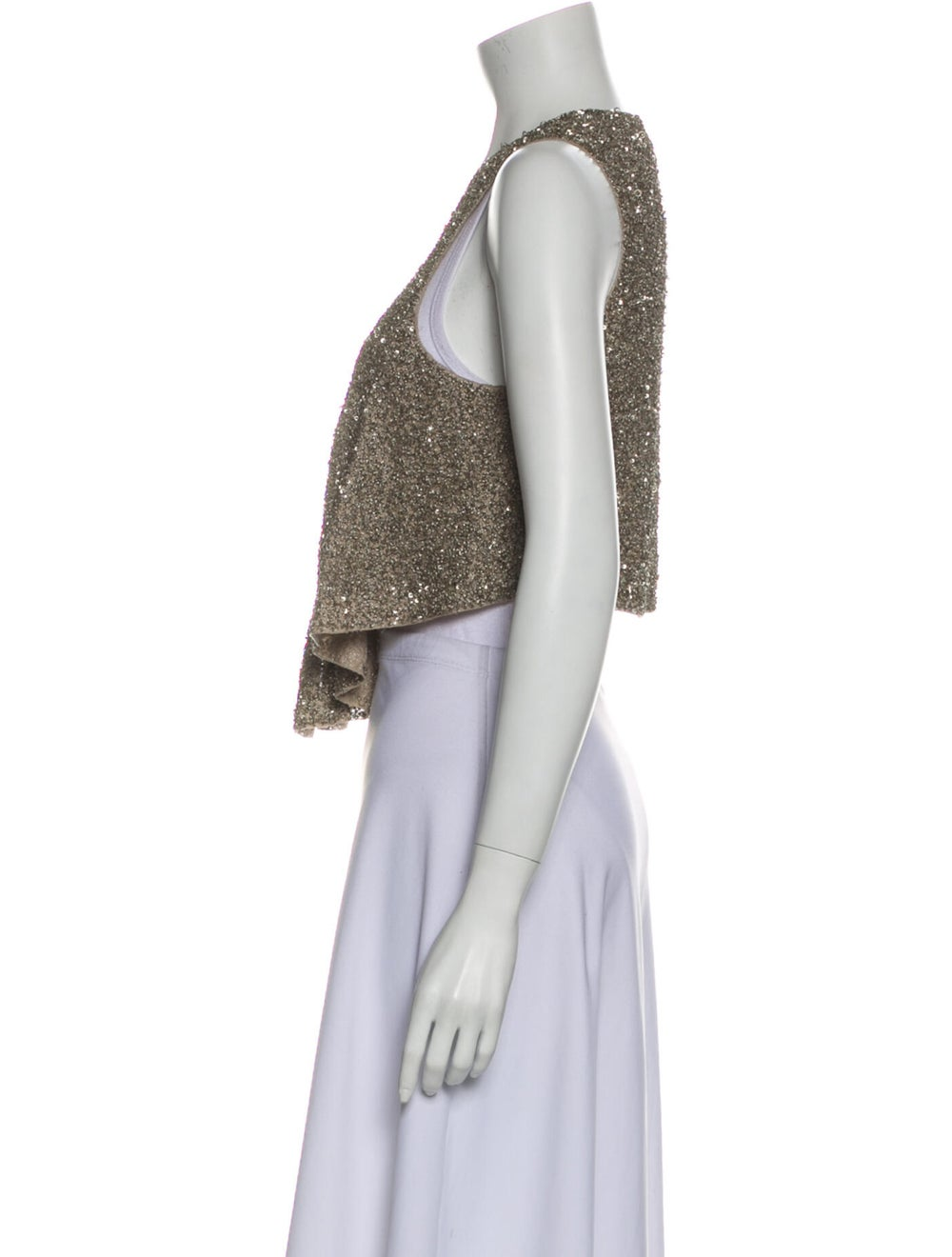 Gary Graham Vintage Linen Vest - image 2