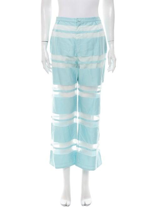 Cult Gaia Striped Wide Leg Pants Blue