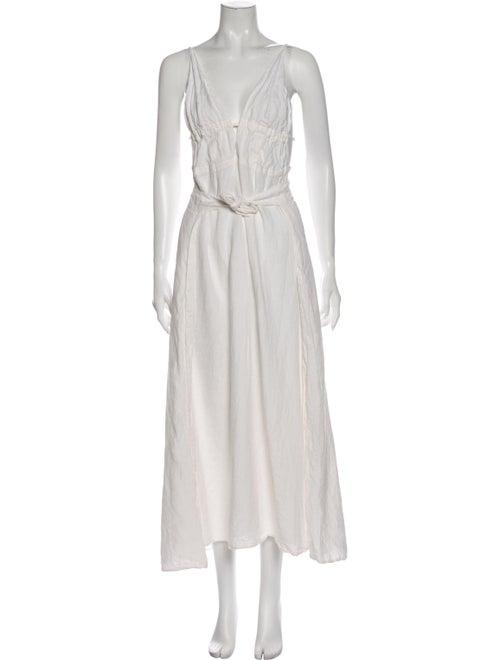 Cult Gaia Linen Long Dress