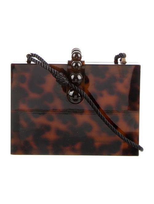 Cult Gaia Isla Acrylic Box Bag Brown