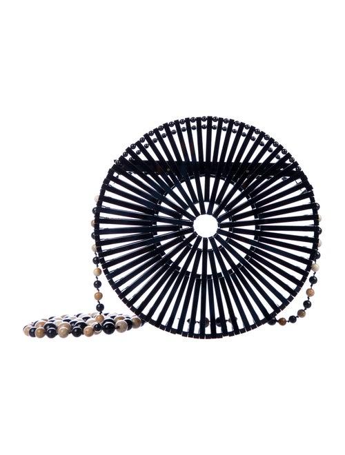 Cult Gaia Luna Acrylic Crossbody Bag Black