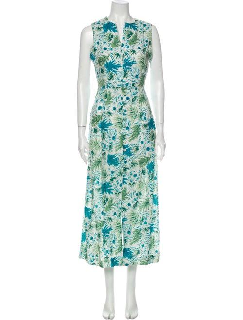 Cult Gaia Linen Long Dress Green