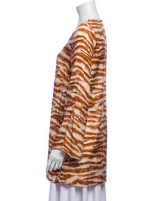 Cult Gaia Animal Print V-Neck Tunic