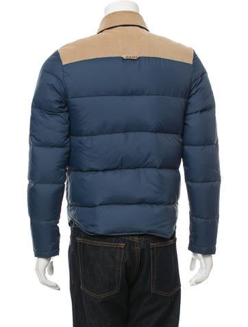 Gant Corduroy-Trimmed Puffer Jacket - Clothing ...