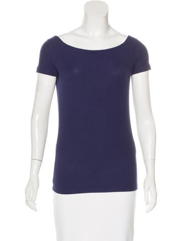 GettingBackToSquareOne Rib Knit Off-The-Shoulder T-Shirt w/ Tags None