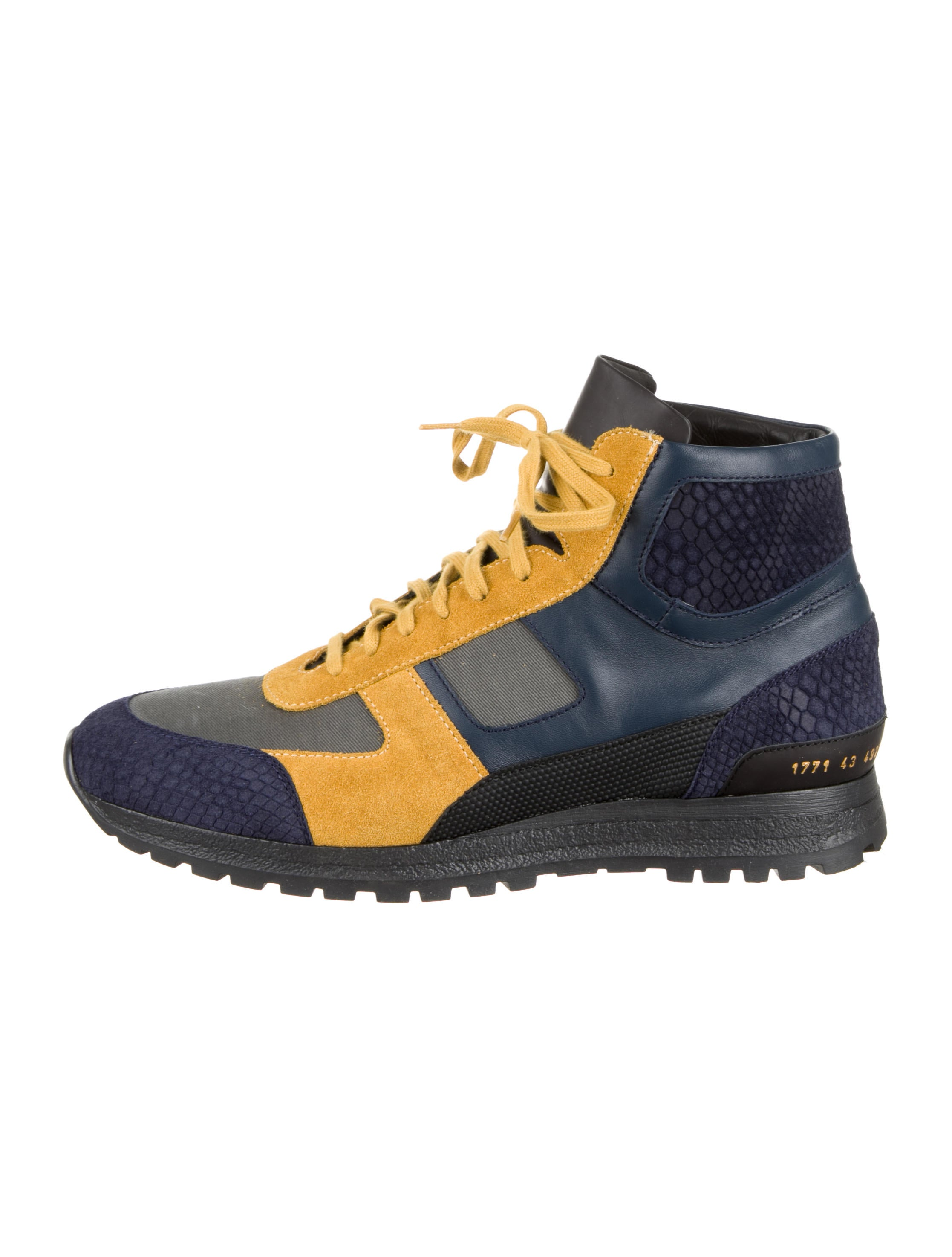 fff39a47e336f7 Robert Geller x Common Projects Treck High-Top Sneakers - Shoes ...