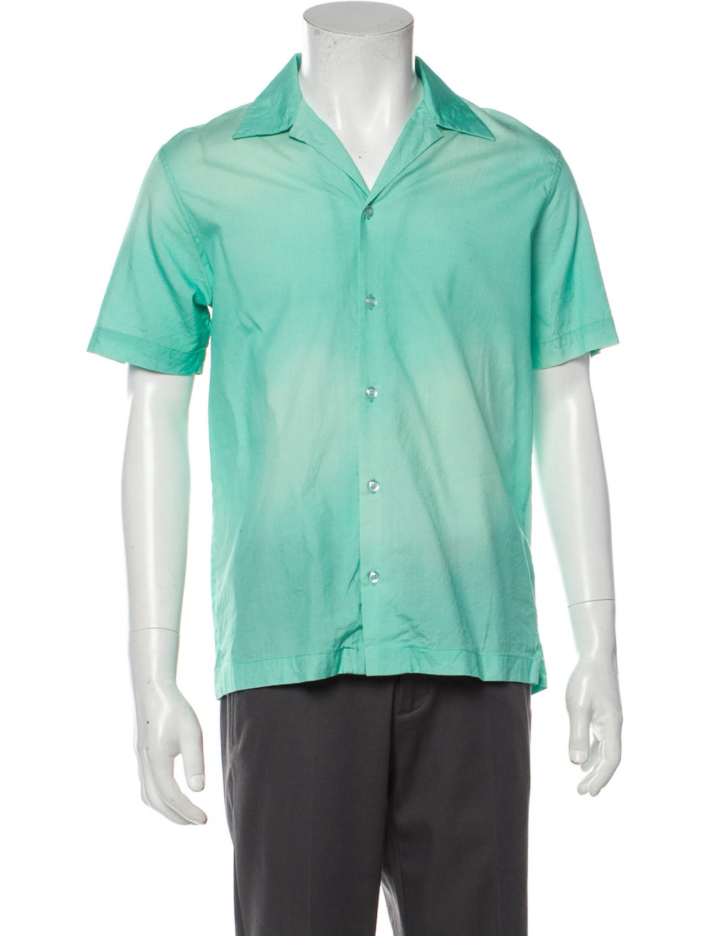 Goodfight Silk Short Sleeve Shirt Green - image 1