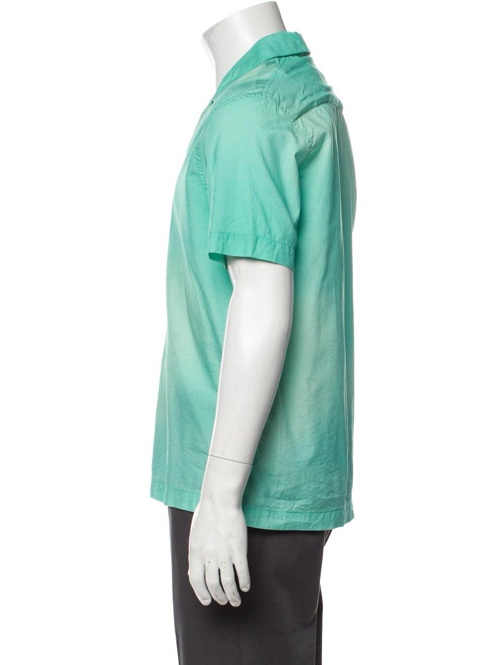 Goodfight Silk Short Sleeve Shirt Green - image 2
