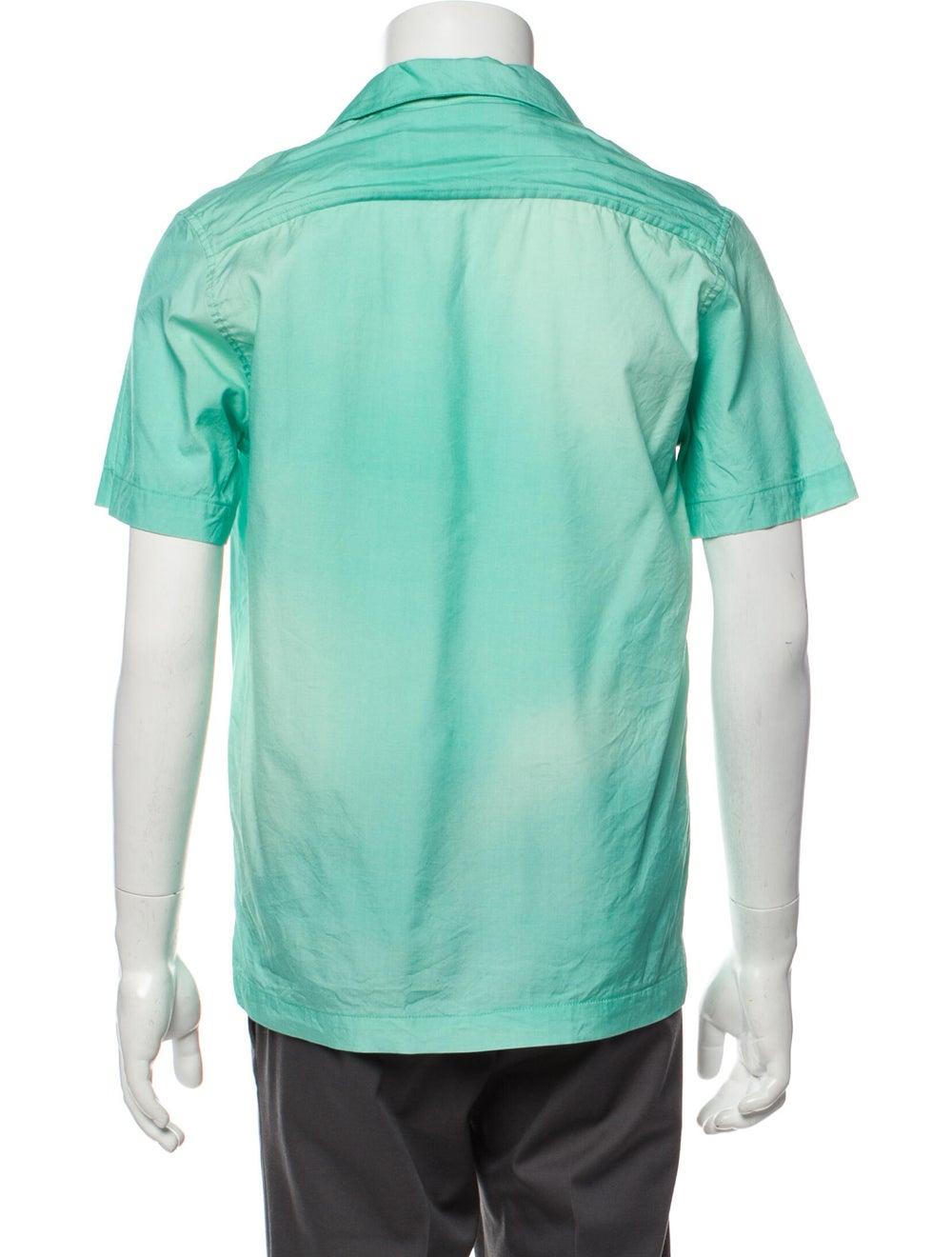 Goodfight Silk Short Sleeve Shirt Green - image 3