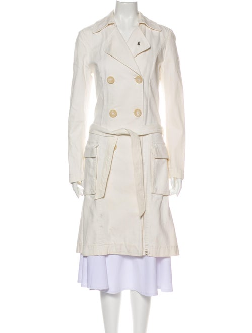 GF Ferre Trench Coat White