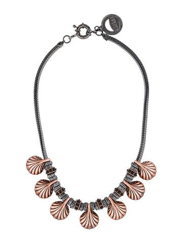 Rose Gold Plated Shell Necklace