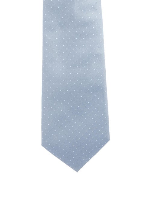 Gieves & Hawkes Silk Jacquard Tie blue