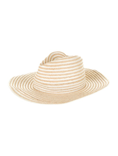 Gigi Burris Straw Wide Brim Hat Tan